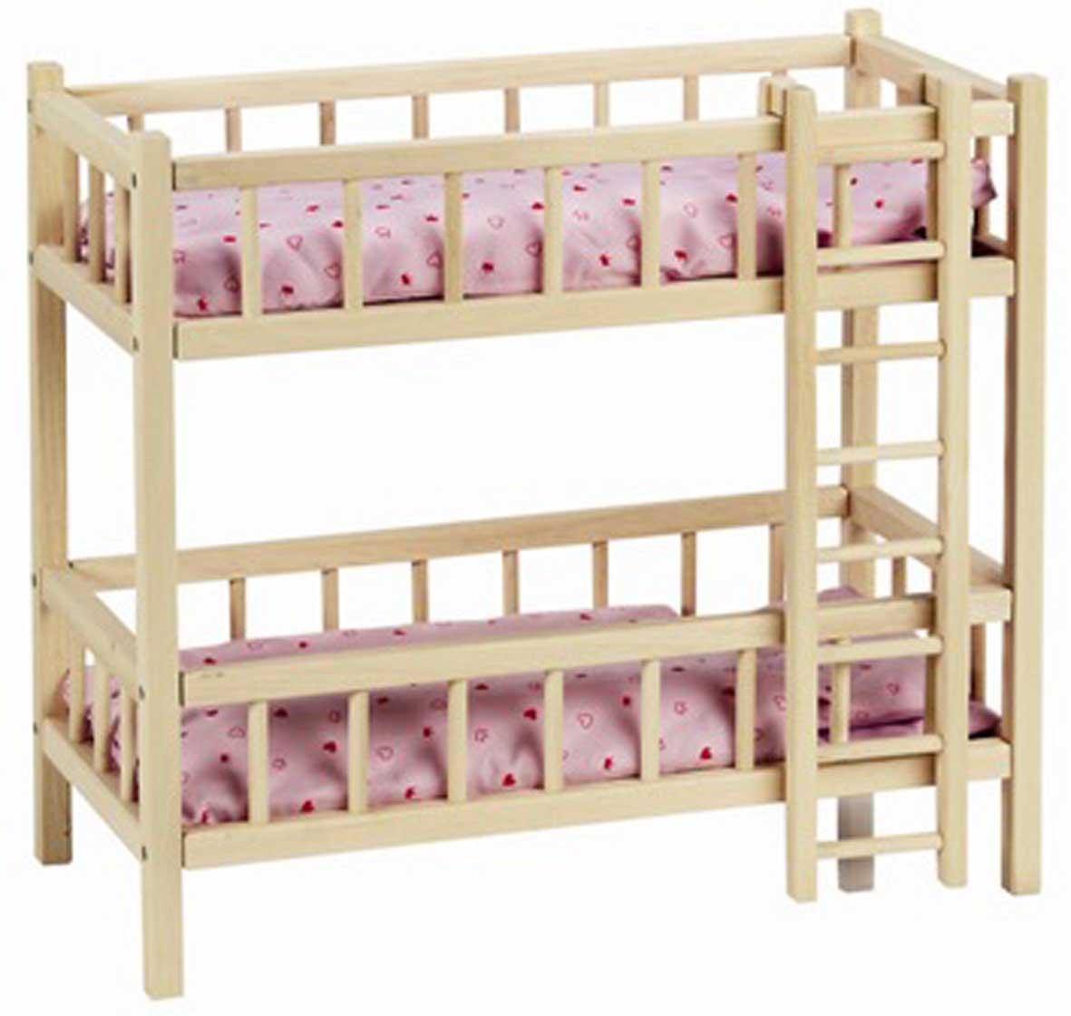 Двухэтажные кровати для кукол